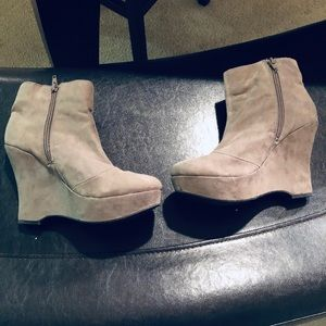 Express bootie wedges